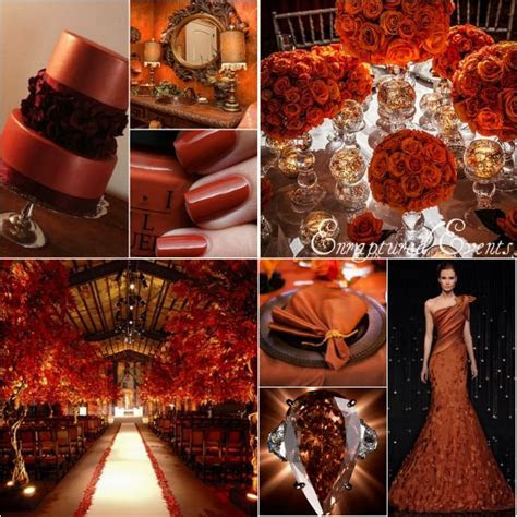 Burnt Orange And Brown Wedding Inspiration  Munaluchi Bride