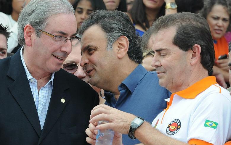 Cunha, Aécio e Paulinho