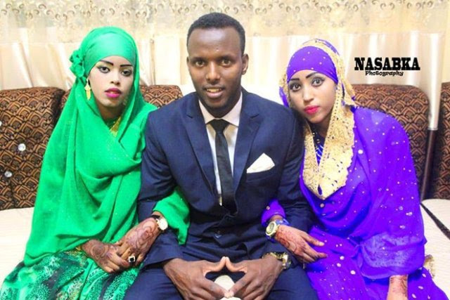 Handsome young man weds two women on the same day