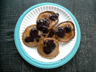 Pancakes with Blackberry Syrup