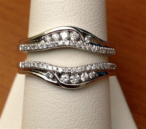 Solitaire Enhancer Round Diamonds Ring Guard Wrap 14k