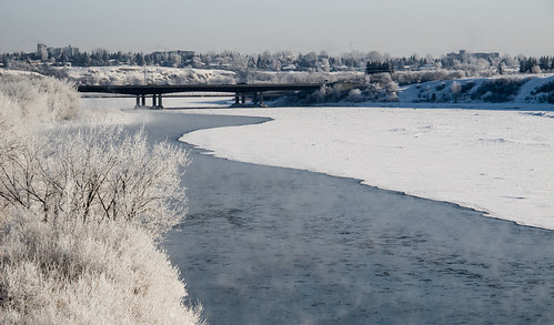 frosty river scene
