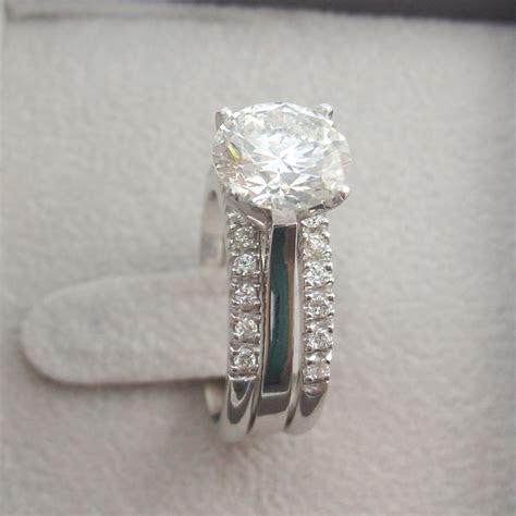 3.00 CT ROUND D VS1 DIAMOND ENGAGEMENT RING WEDDING BAND