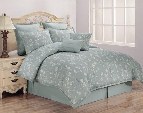Cascade Cherry Blossom 8pc King Size Comforter Set