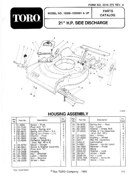 Toro 16585 16785 21-Inch Lawn Mower Owners Manual, 1991