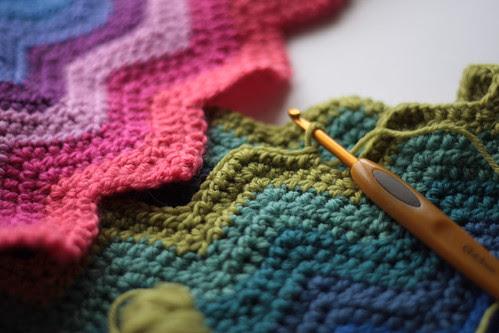 rainbow ripple crochet