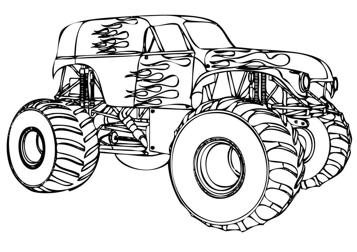 Inspiration Coloriage A Imprimer Monster Truck