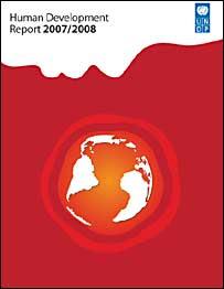 Capa do relatório 2007/2008 do PNUD