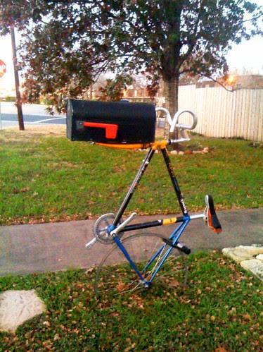 Mailbox bike hack