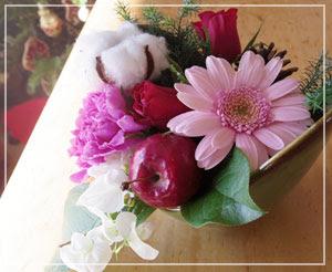 お花もいただいて、盛り上がるクリスマス感!