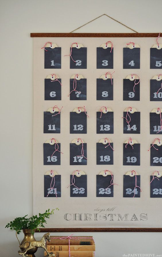 Advent Calendar Wall Chart (with FREE printables!)   The Painted Hive