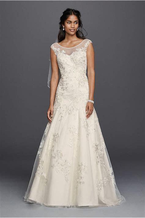 Melissa Sweet Long Sleeved Lace Wedding Dress   David's Bridal