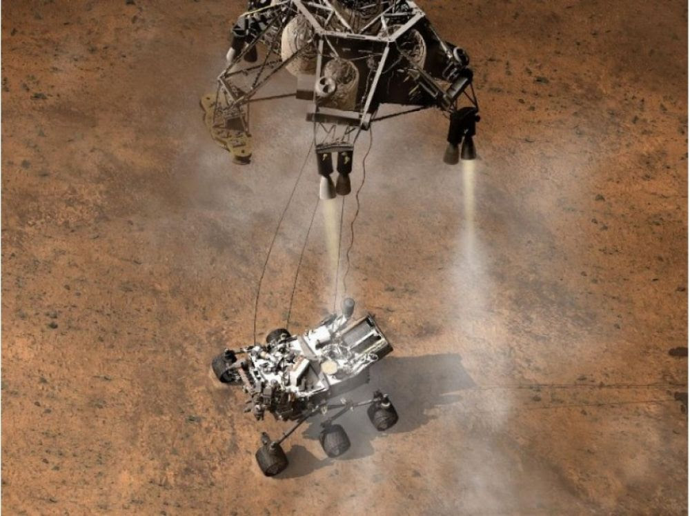"""Résultat de recherche d'images pour """"Curiosity : un atterrissage en image de synthèse"""""""