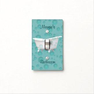 Vintage Bathtub Light Switch Cover 2- customize
