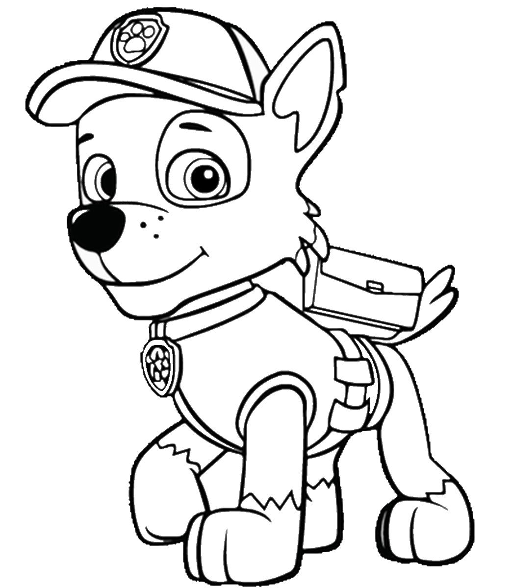 Patrulla De Cachorros Para Colorear E Imprimir