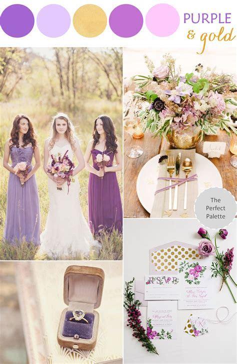 Romantic Wedding Style: Purple   Gold   www
