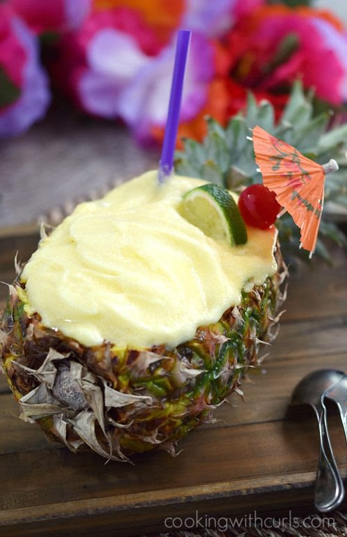 Pineapple Daiquiri Sorbet - Cooking With Curls - HMLP 131 Feature