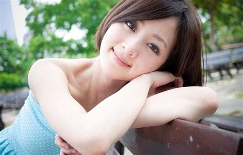 wallpaper girl asian model smile beauty