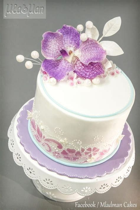 Purple Orchid Cake by MLADMAN   Cakes & Cake Decorating
