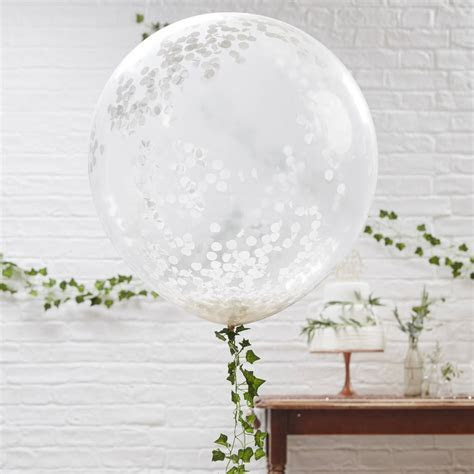 giant white confetti wedding balloons three pk by ginger