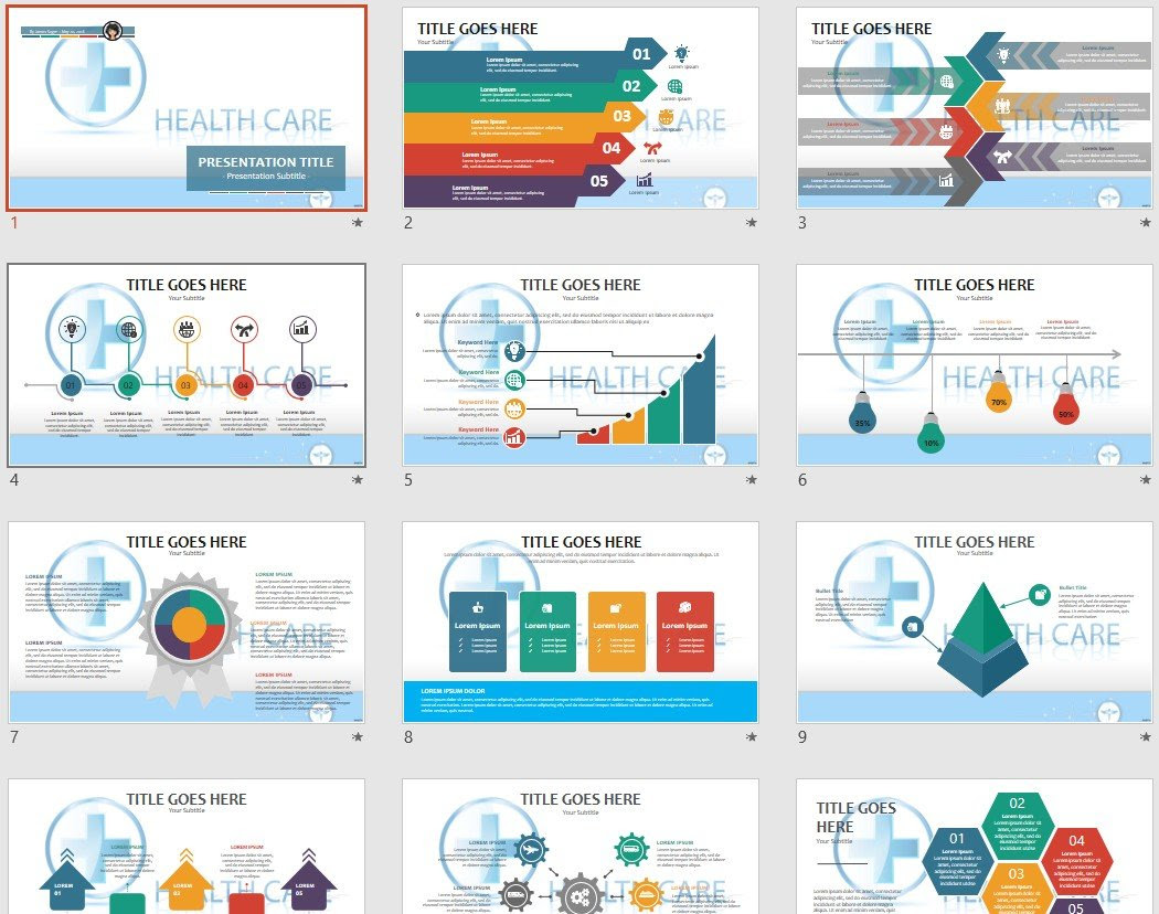 Healthcare Powerpoint Template 96083