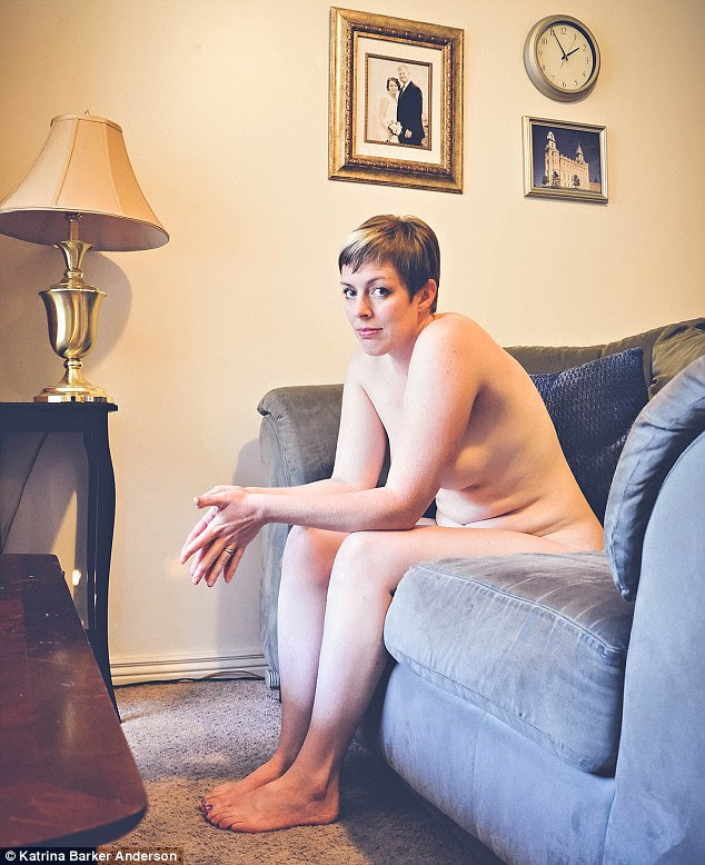 Salt Lake City photographer Katrina Barker Anderson launched Mormon Women Bare in July 2013 and has so far had more than 30 Mormon women volunteer to be photographed (pictured: Monica)