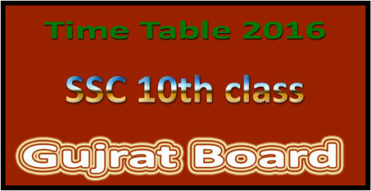 Gujarat Ssc Board Class 10 Exam Time Table Download Now Postalert