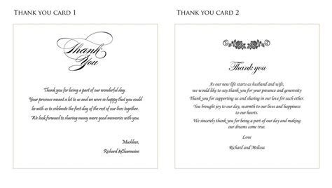 wedding thank you card ideas   fortworthweddingmall.com
