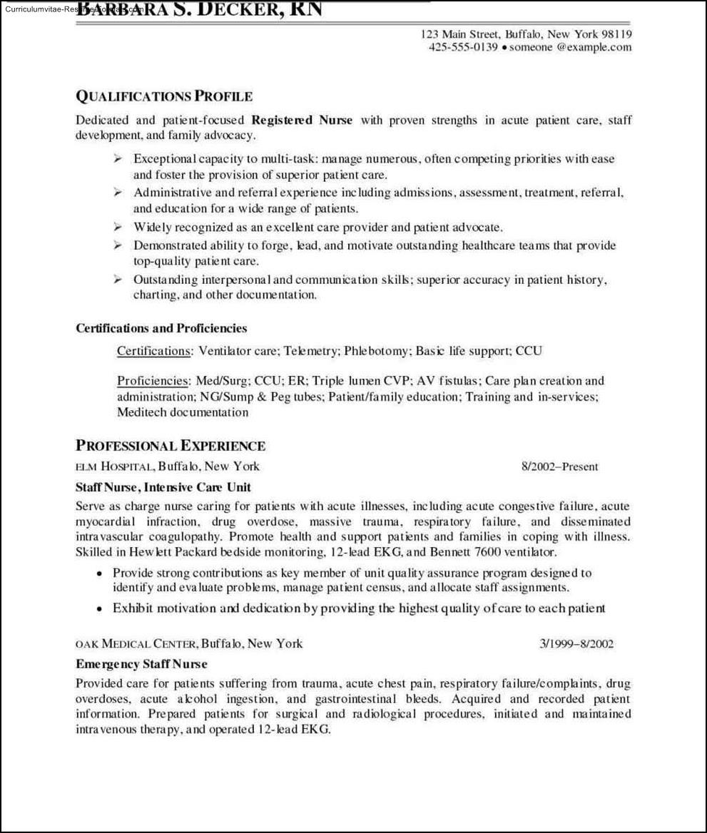 Nurse Resume Templates Free  Free Samples , Examples  Format Resume \/ Curruculum Vitae  Free