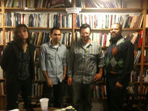 Kristin Dykstra, Paul Martinez Pompa, Daniel Borzutzky, and I