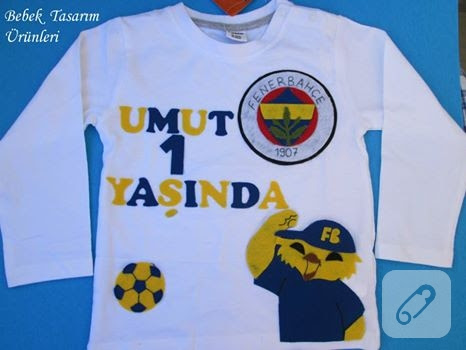 Fenerbahçe Kanaryalı Tişört Süsleme 10marifetorg