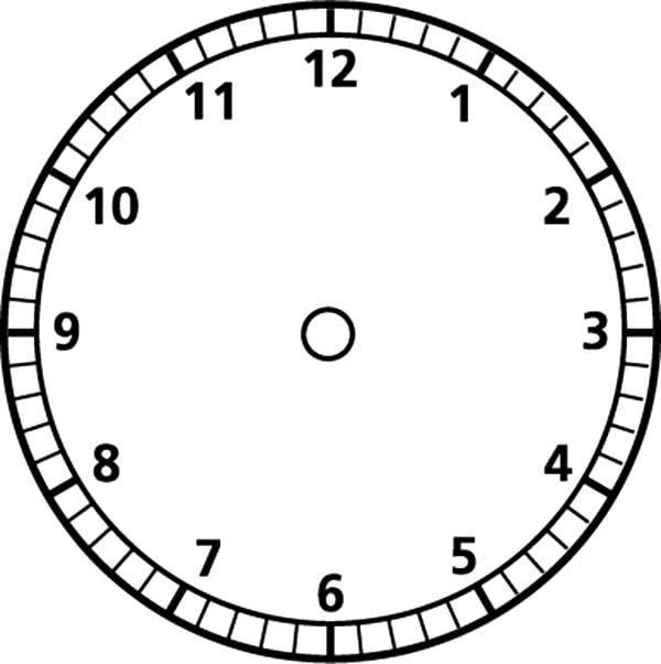 Blank Analogue Clock - ClipArt Best