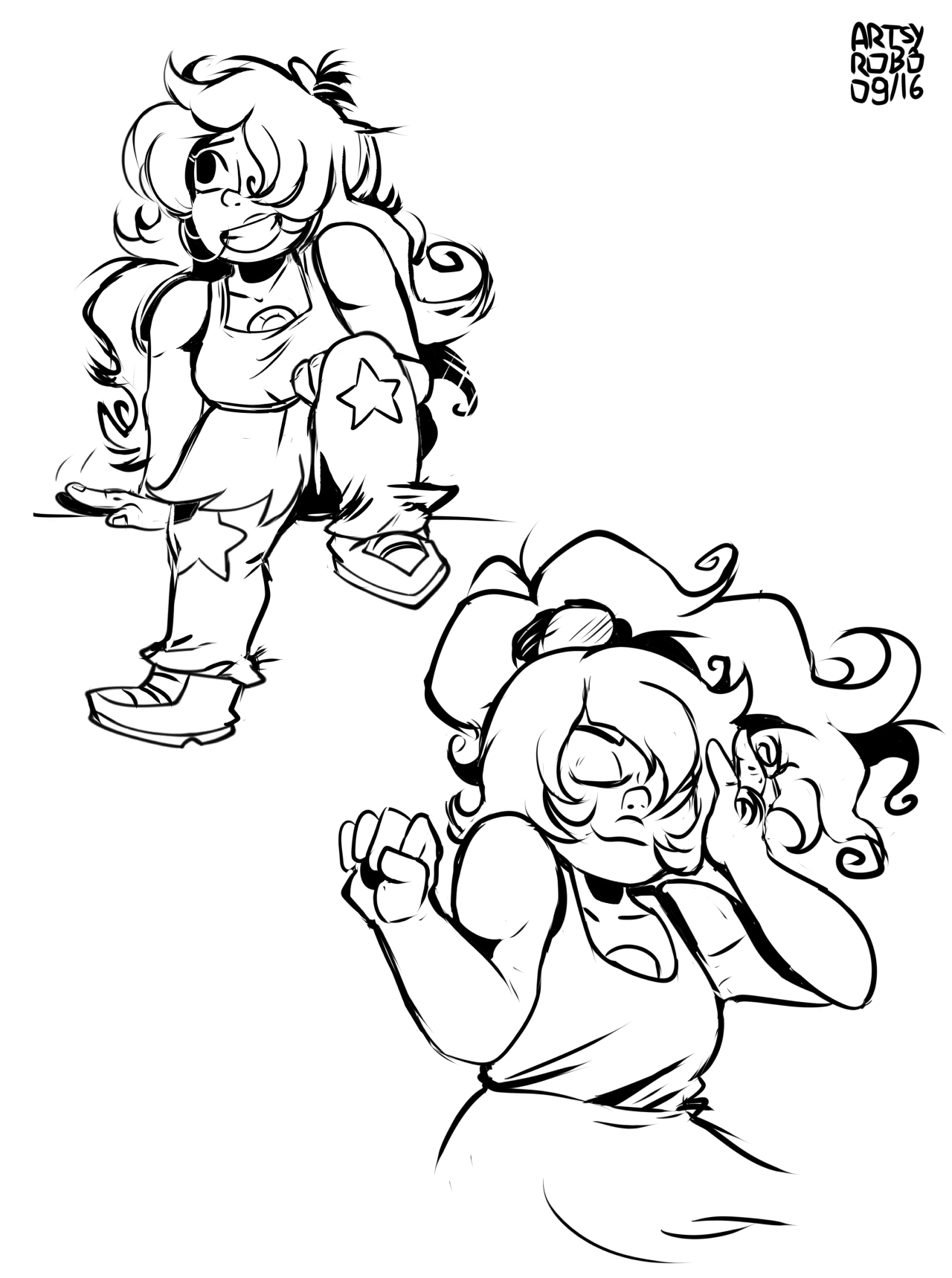 Some doodles of my two favorite SU characters… I'm really happy with it all turned out! Also a drawing of them hugging because I really needed it… Ugh I love them so much Probably gonna color it all...