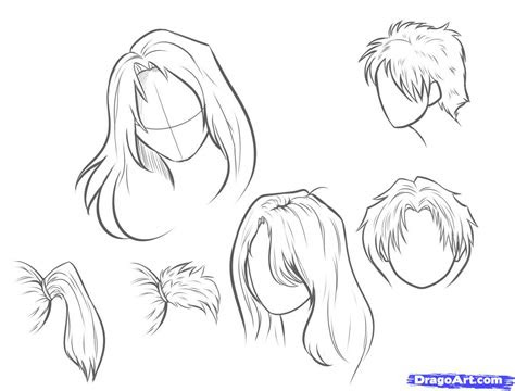 draw hair step  step hair people