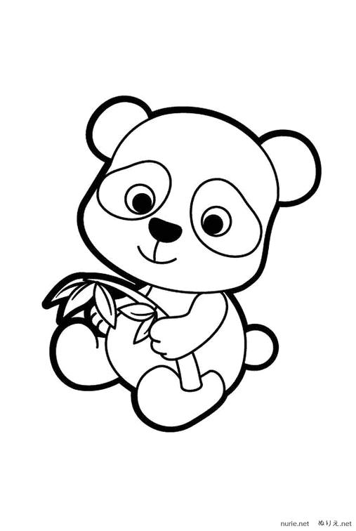 Panda Nurie 002 ぬりえ Nurienet