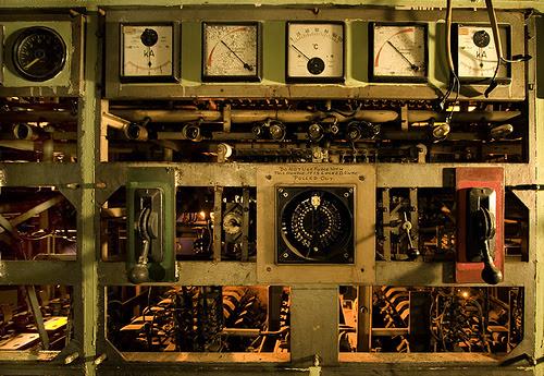 Painel de controle do Transatlântico MV Xanadu 2