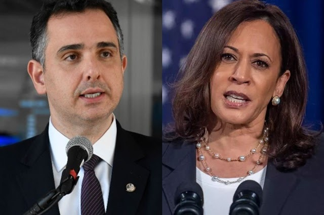 Presidente do Senado, Rodrigo Pacheco, pede aval de Kamala Harris para comprar vacinas estocadas nos EUA