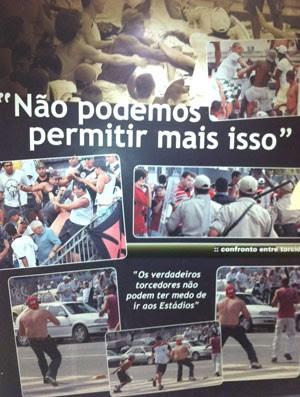 Painel na sede da Ferj (Foto: Vicente Seda / Globoesporte.com)