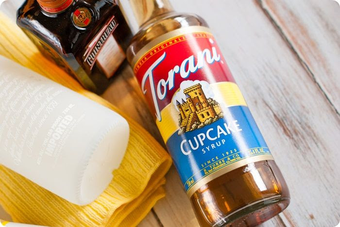 cupcake syrup for a cupcake lemon drop cocktail recipe from @bakeat350