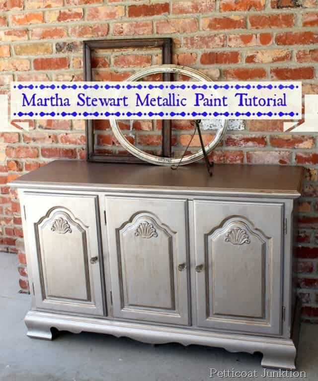 Tutorial On Martha Stewart Metallic Paint For Furniture ...