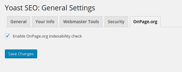 Enable OnPage.org Indexability check