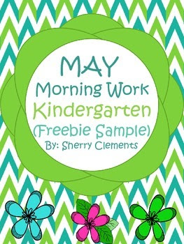Morning Work - Kindergarten - May (FREEBIE SAMPLE)