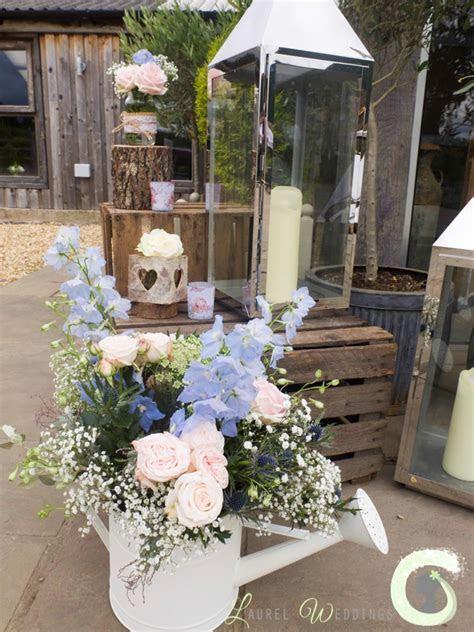 Rustic wedding flowers at Owen House Barn   Laurel Weddings