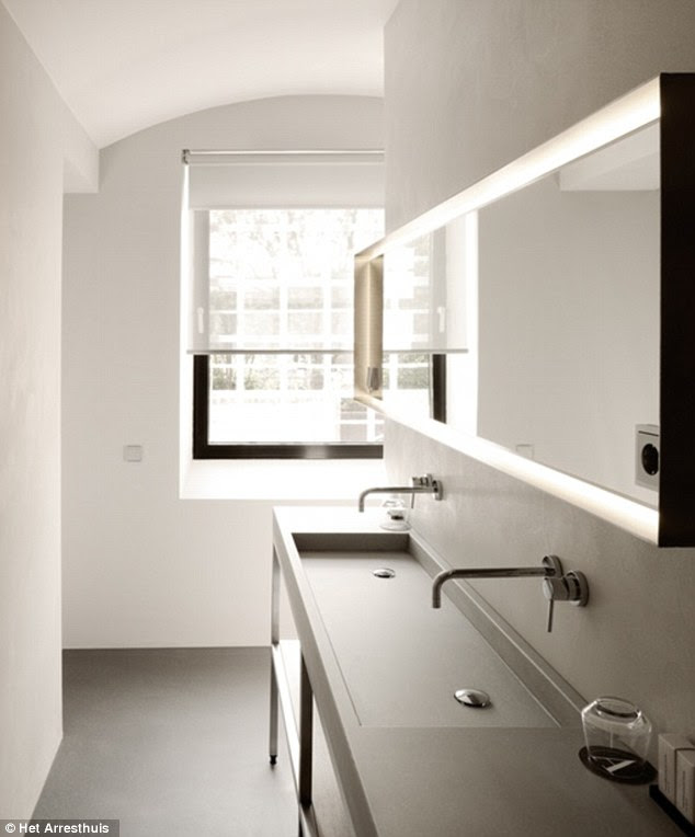 Stylish: This image shows part of one of the bathrooms