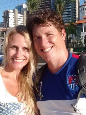 Os americanos Geoff Rubendall e Michelle Gau  (Foto: G1 CE)