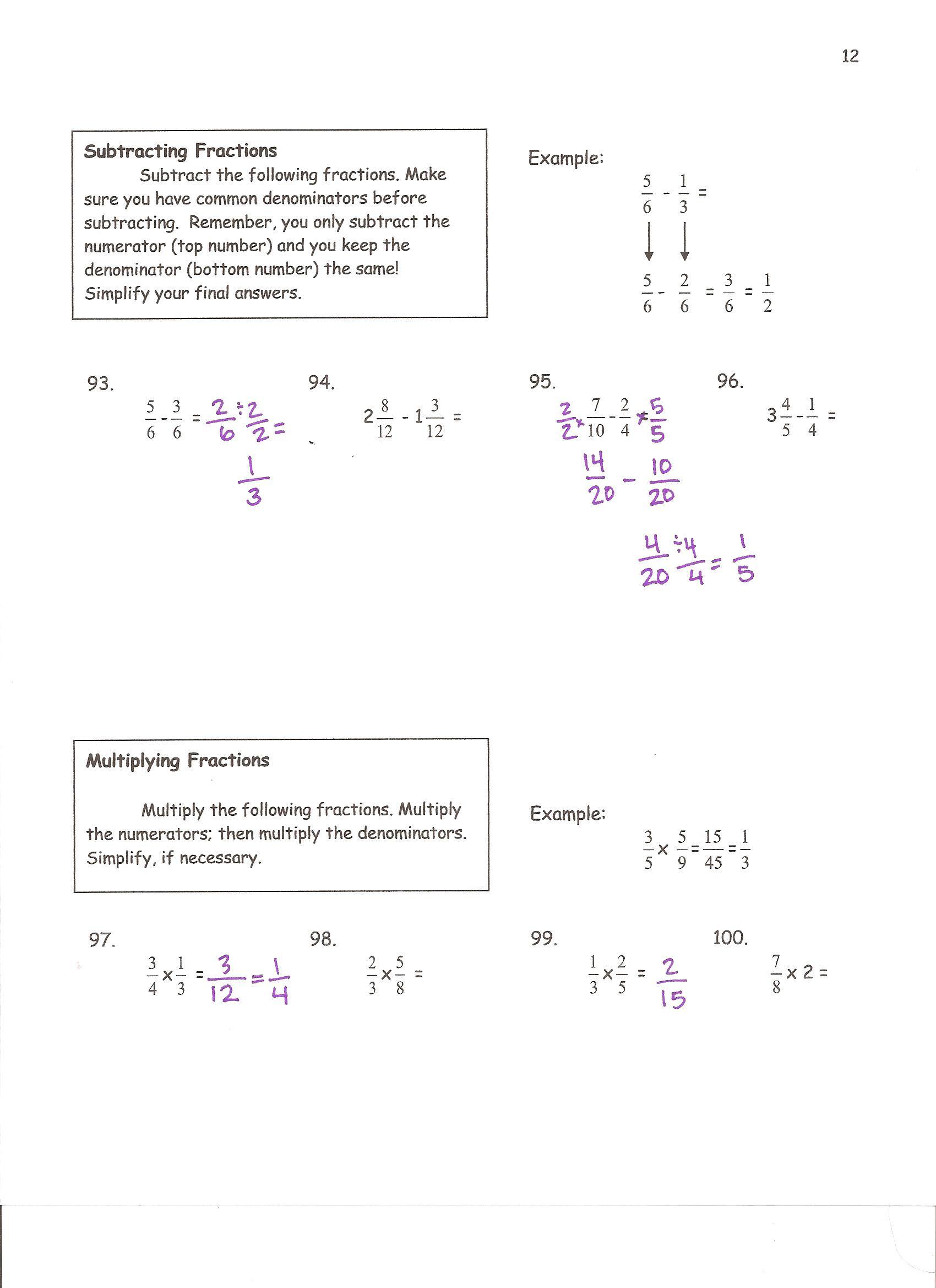 6th Grade Summer Math Calendar: 10 Week Review Packet TpT