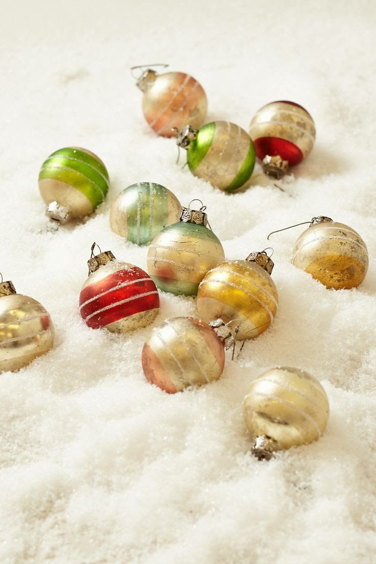Candy stripe ornament set
