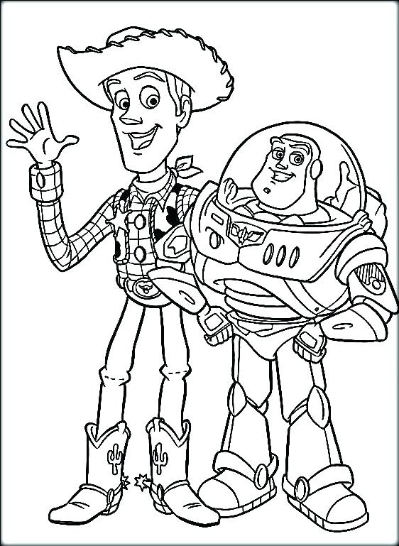 Machine Sousori Buzz Lightyear Coloring Page Easy