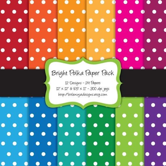 rainbow paper polka dots.