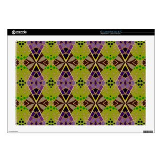 17 Inch Laptop Skin with Unique Olive Pattern